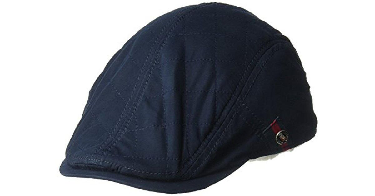 49580e255b0 Lyst - Ben Sherman Brushed Nylon Quilt Ivy Cap in Blue for Men