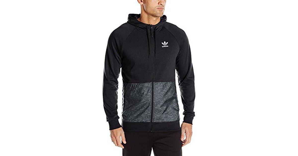 Adidas Originals Green 'sport Luxe' Quarter Zip Hoodie for men