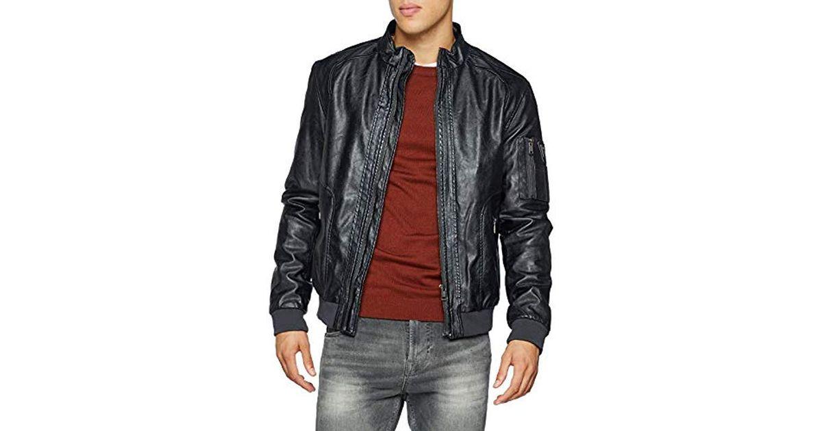 wholesale dealer 827a5 4716b Guess Gray Giubbotti Garment Dye Eco-leat Bomber Jacket for men