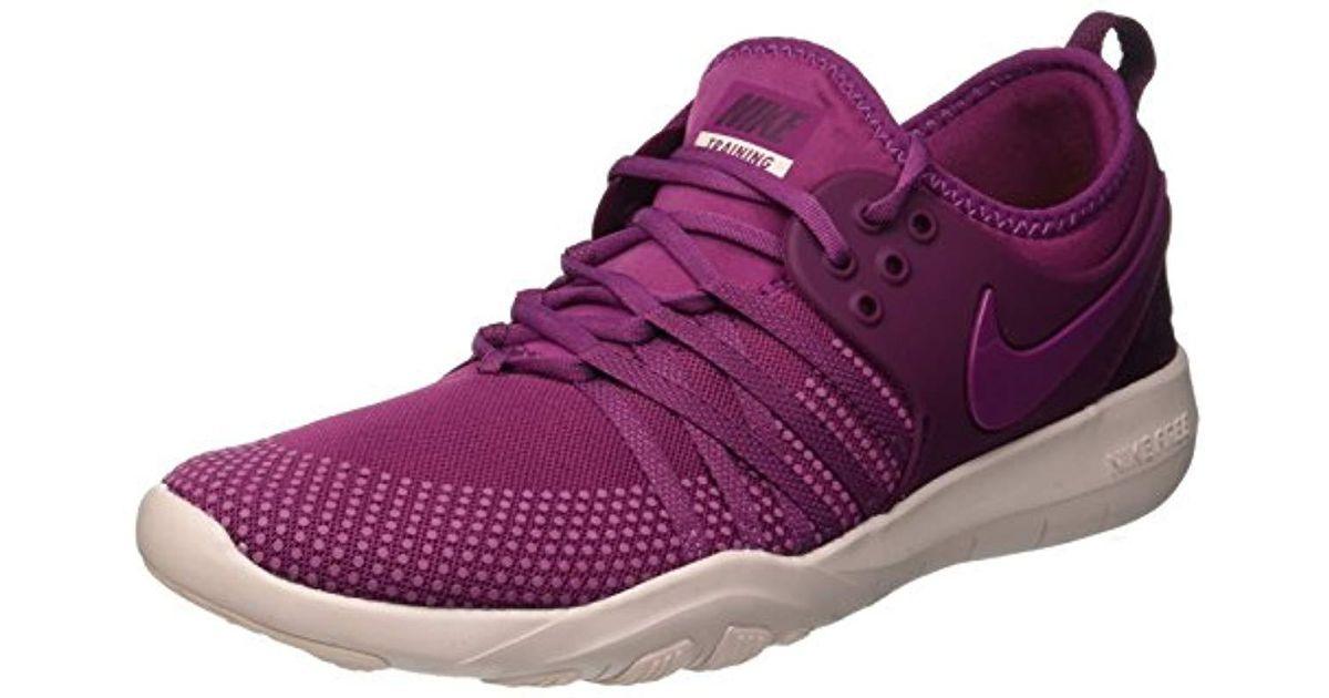 547b6e6e125d usa nike s wmns free tr 7 trainers in purple lyst 0beea 6e59d