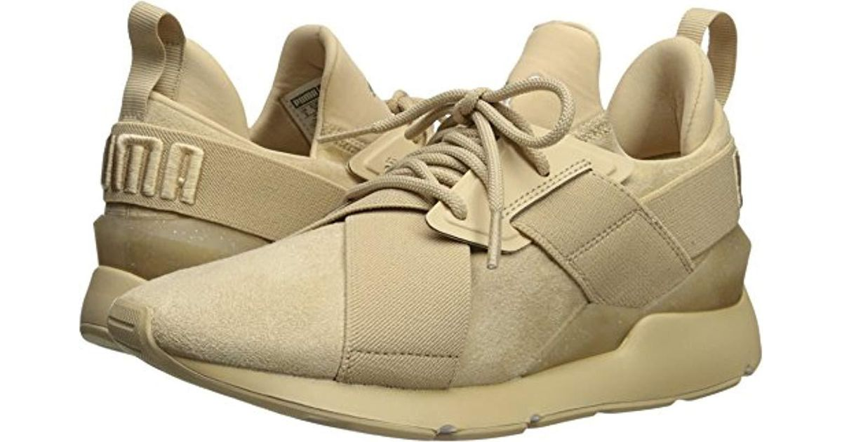 306de5058832 Lyst - PUMA Muse Elevated Wn Sneaker in Natural - Save 6%