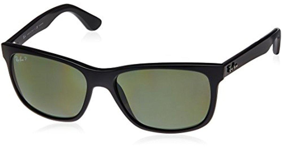ed3a46dc550 Lyst - Ray-Ban Rb4181 - Shiny Black Frame Polar Green Lenses 57mm Polarized  in Black for Men