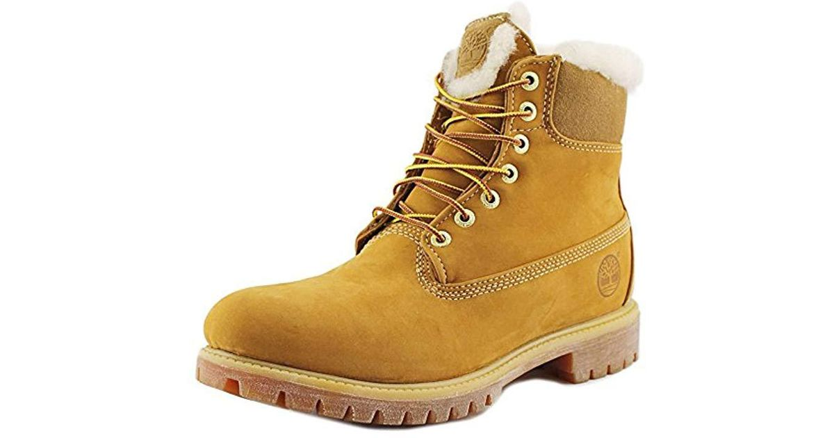 Timberland 6 Inch Fur Lined Round Toe