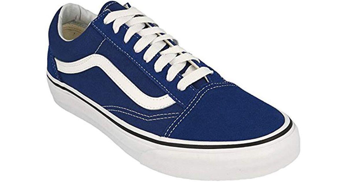 5fabeec2f7 Lyst - Vans Unisex Old Skool Classic Skate Shoes in Blue