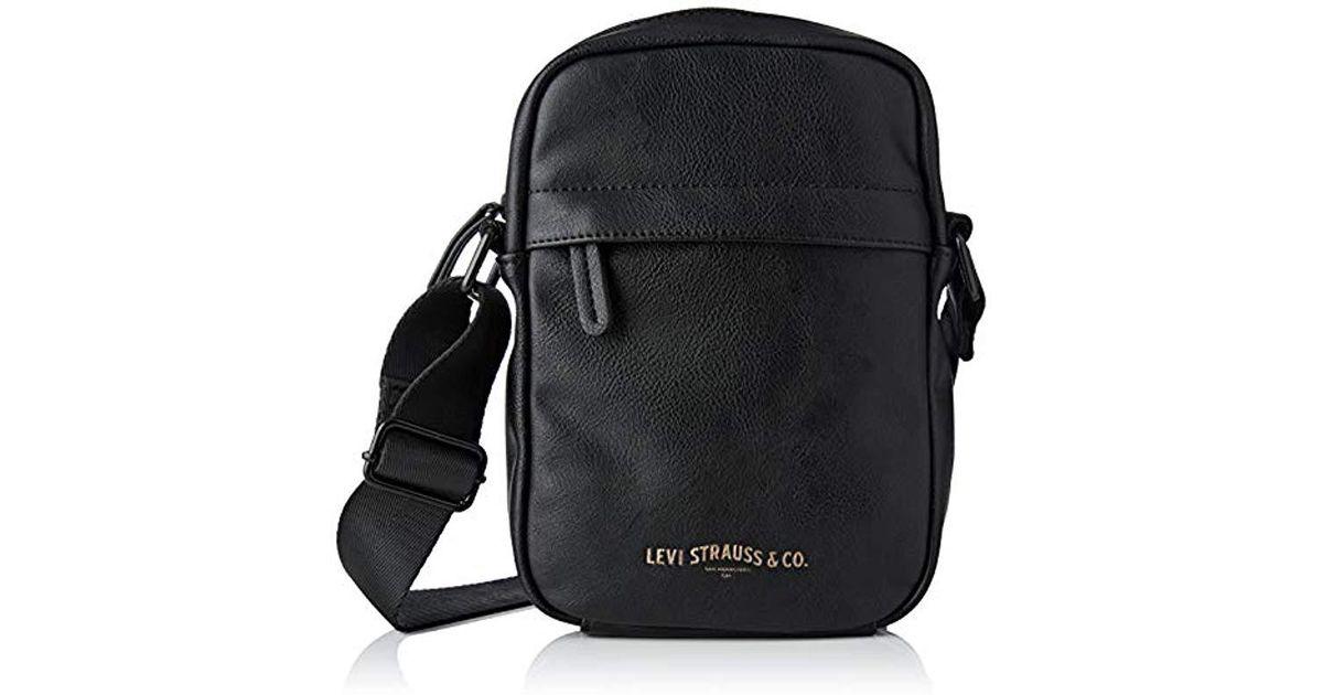 31e144397 Levi's - Messenger Leather Bag Mini Crossbody Vegan in Black for Men - Lyst