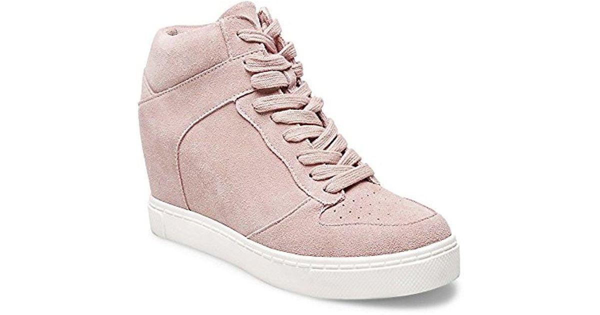 Steve Madden Noah Sneaker in Pink Suede