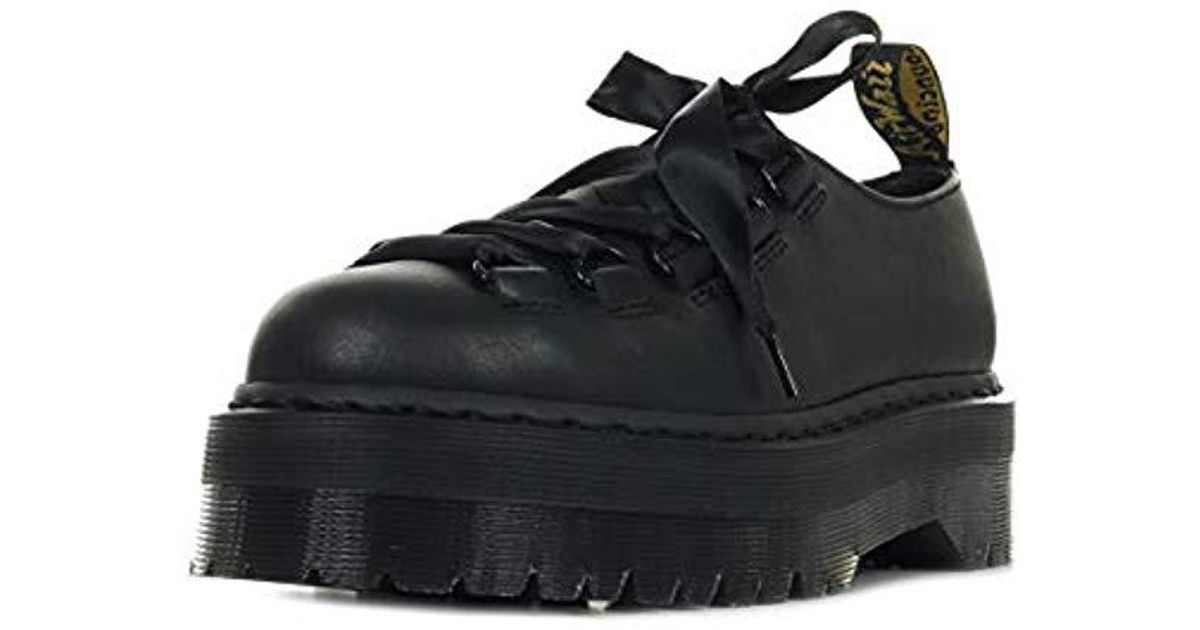 Dr Martens Women/'s Caraya Pisa /& Smooth Leather Lace Up Shoe Black