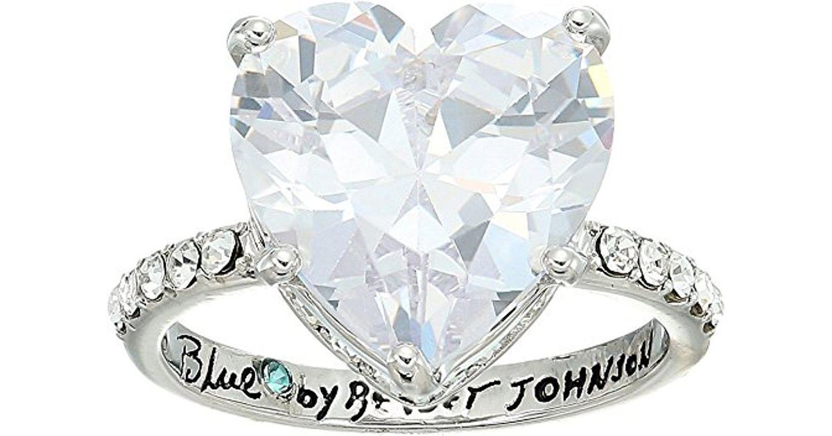 Betsey Johnson S Blue By Betsey Cubic Zirconia Heart Shaped Stone