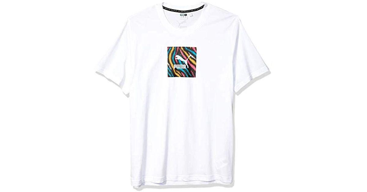 PUMA Menswild Pack Tee Short Sleeve T shirt in White for Men