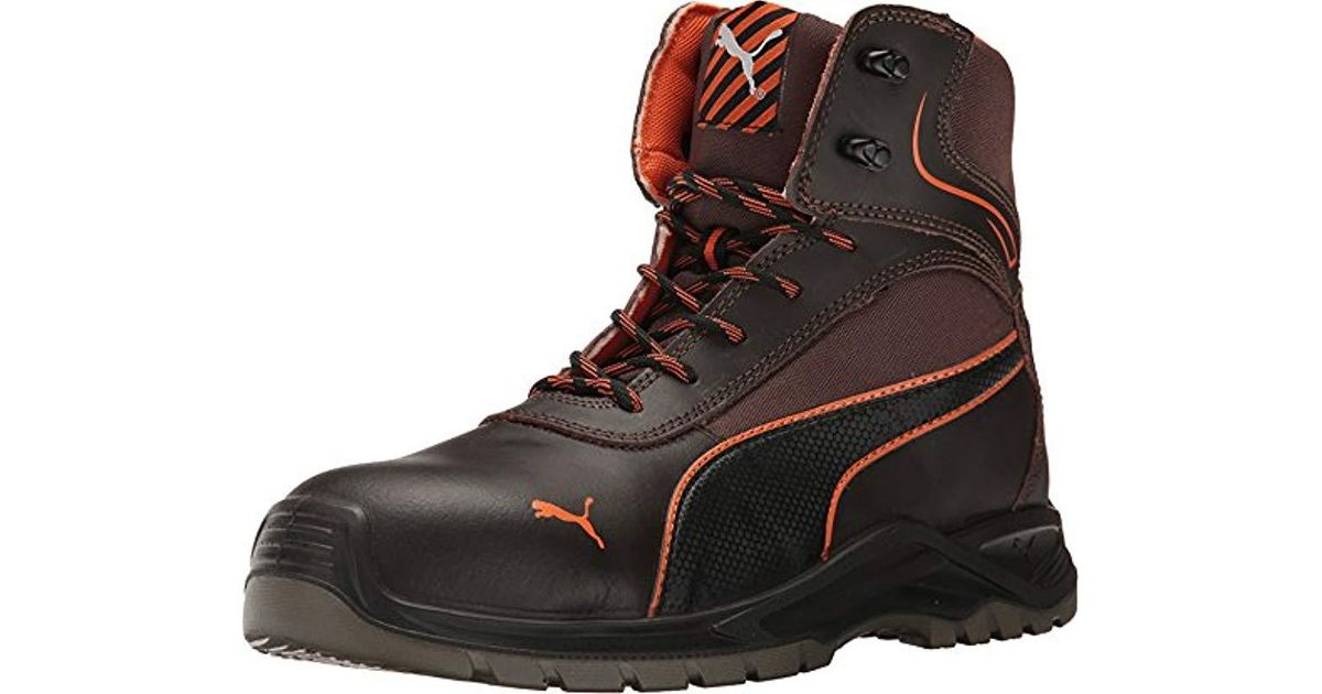 b97623ed PUMA - Brown Safety S Atomic for Men - Lyst