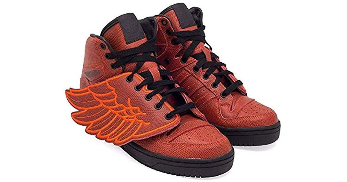 Adidas Red Originals Jeremy Scott Wings B ball Shoes S77803,5.5 for men