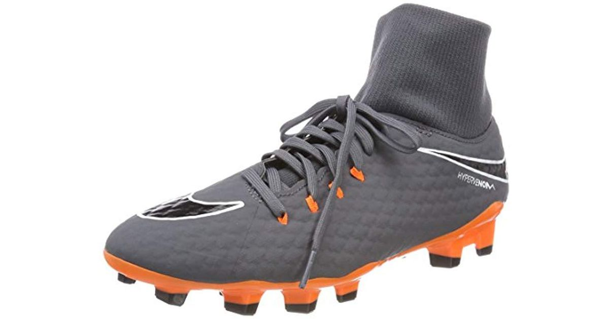 timeless design 8d348 b6b1f Nike Gray Phantom 3 Academy Df Fg Football Boots, Dark Grey/white/total  Orange 081, 11 (46 Eu) for men