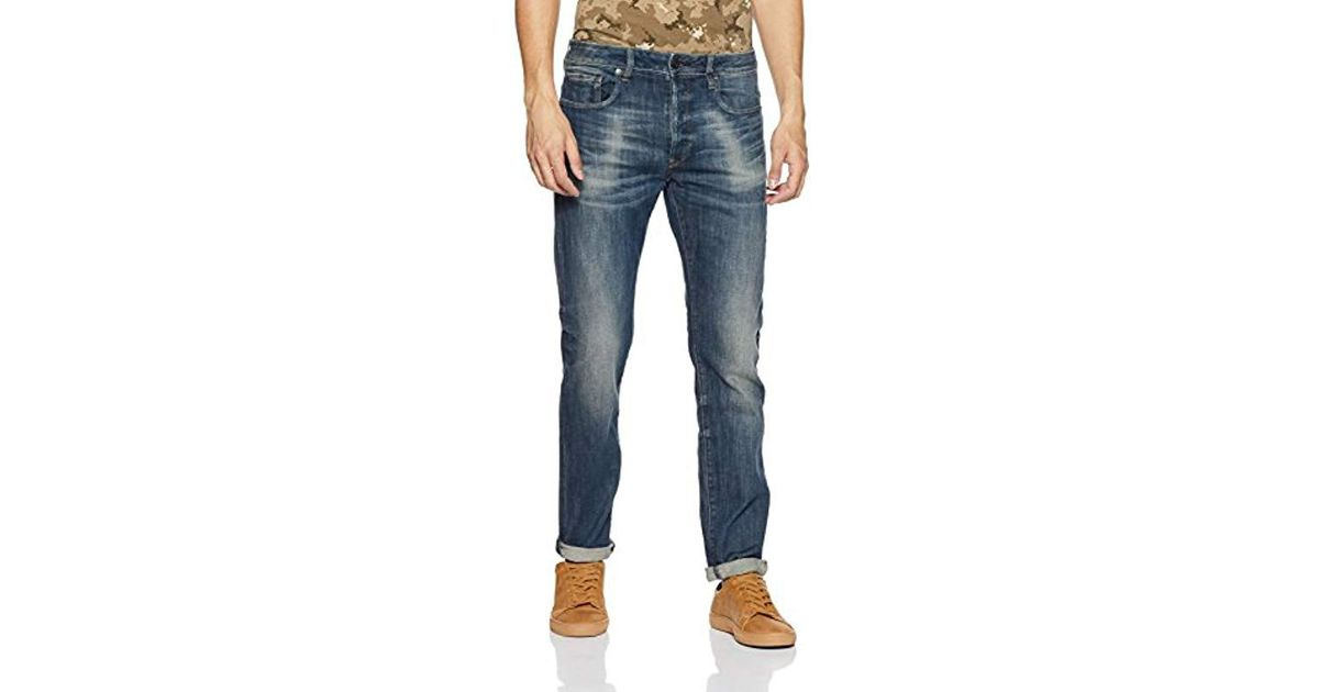 74d59f2dbe1 G-Star RAW G-star 3301 Slim Jeans, Blue (dark Aged Antic), W40/l38 in Blue  for Men - Lyst