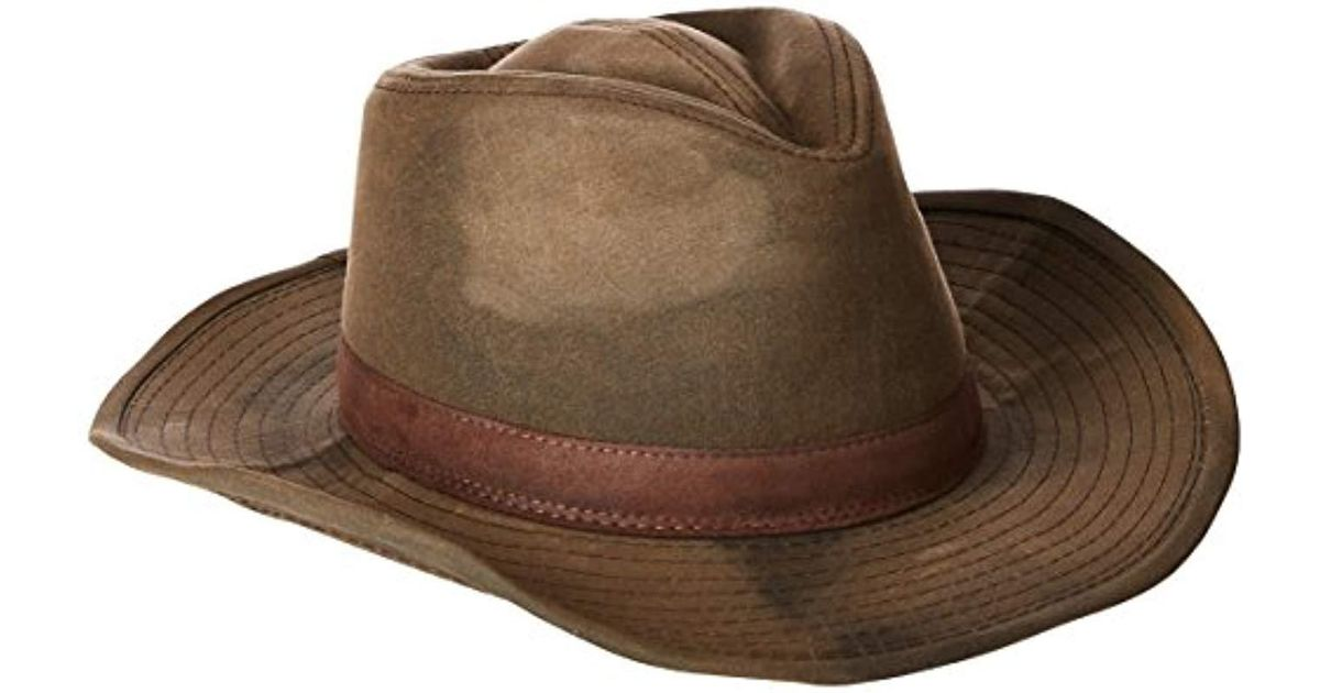 Lyst - Pendleton Waxed Cotton Outback Hat in Brown for Men - Save 12% dd09fef76db