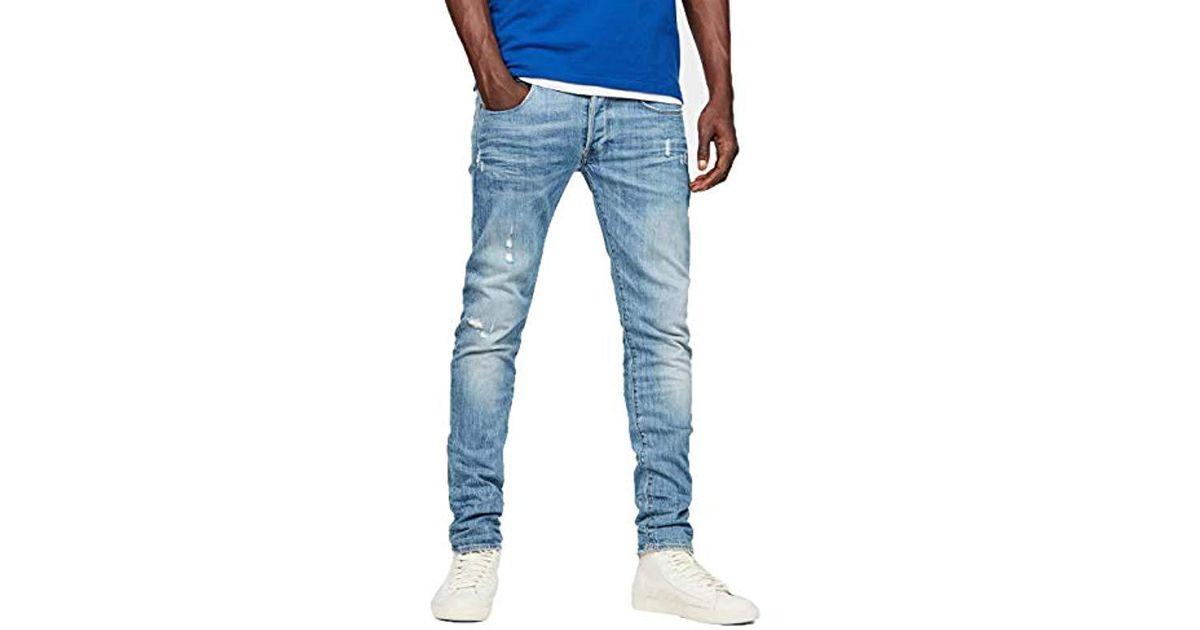 G-STAR JEANS 3301 OT Straight w38 l34 HYDRITE denim indigo aged Cotton Denim New