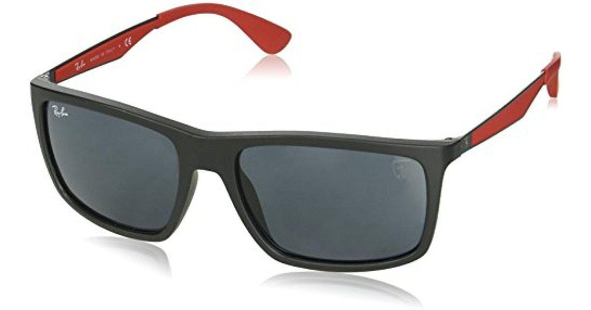 f752ce160a0 Lyst - Ray-Ban 0rb4228mf602h258plastic Man Polarized Iridium Rectangular  Sunglasses
