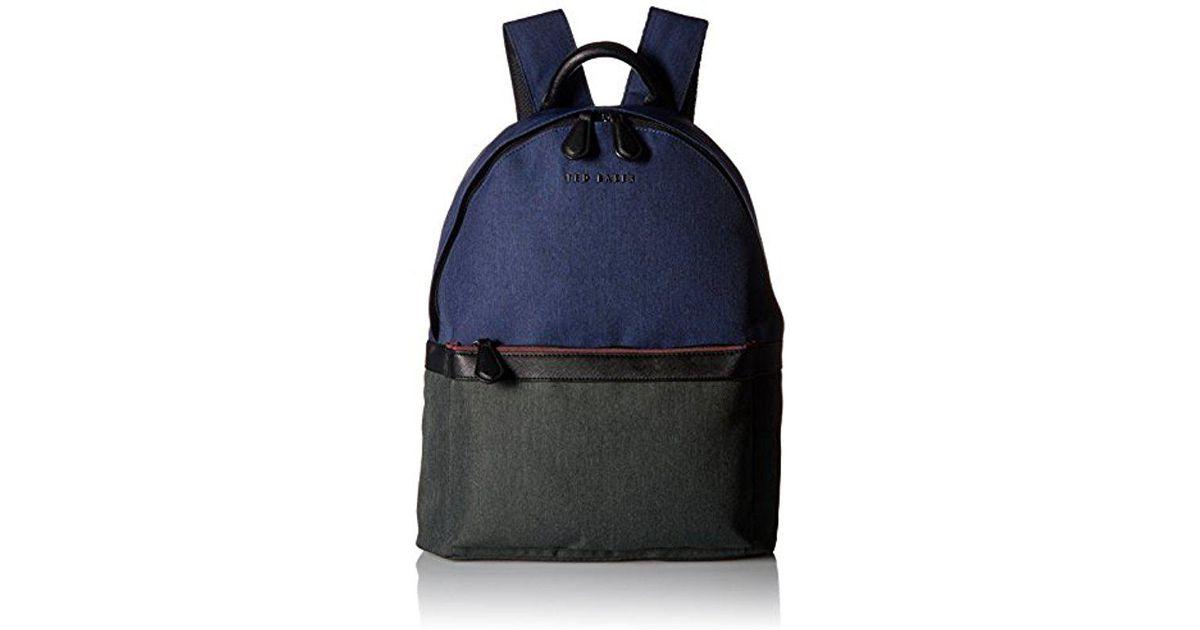 dabc307ba Ted Baker Green Zirabi Nylon Contrast Trim Backpack for men