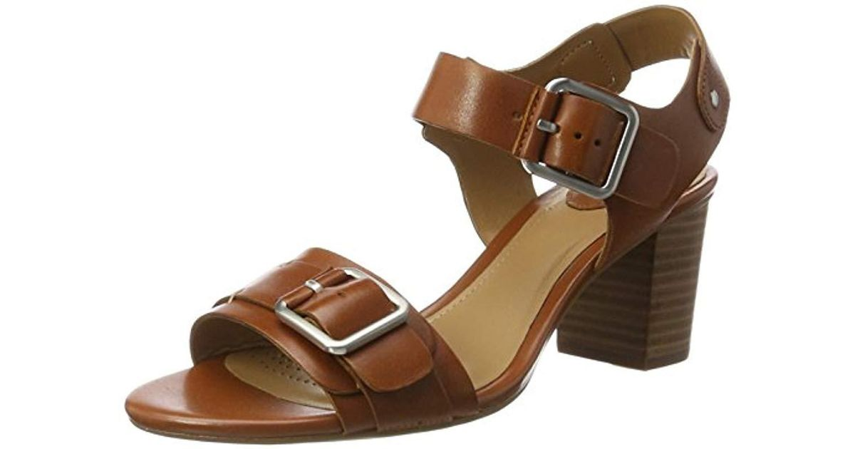 3201d3ac4380 Clarks  s Relene Dazzle Wedge Heels Sandals in Brown - Lyst