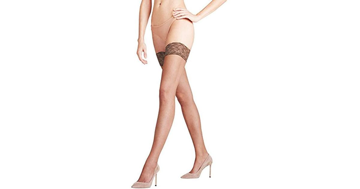 90356a07352 Falke Shelina 12 Denier Hold-up Stockings in Brown - Lyst