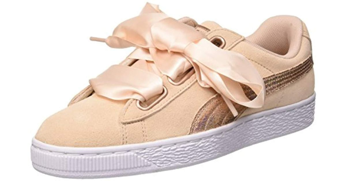 2637b85206db PUMA Suede Heart Lunalux Trainers in Natural - Save 52% - Lyst