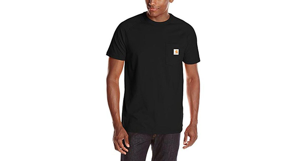 209a9db301f Carhartt Force Cotton Delmont Short Sleeve T-shirt (regular And Big & Tall  Sizes) in Black for Men - Save 24% - Lyst