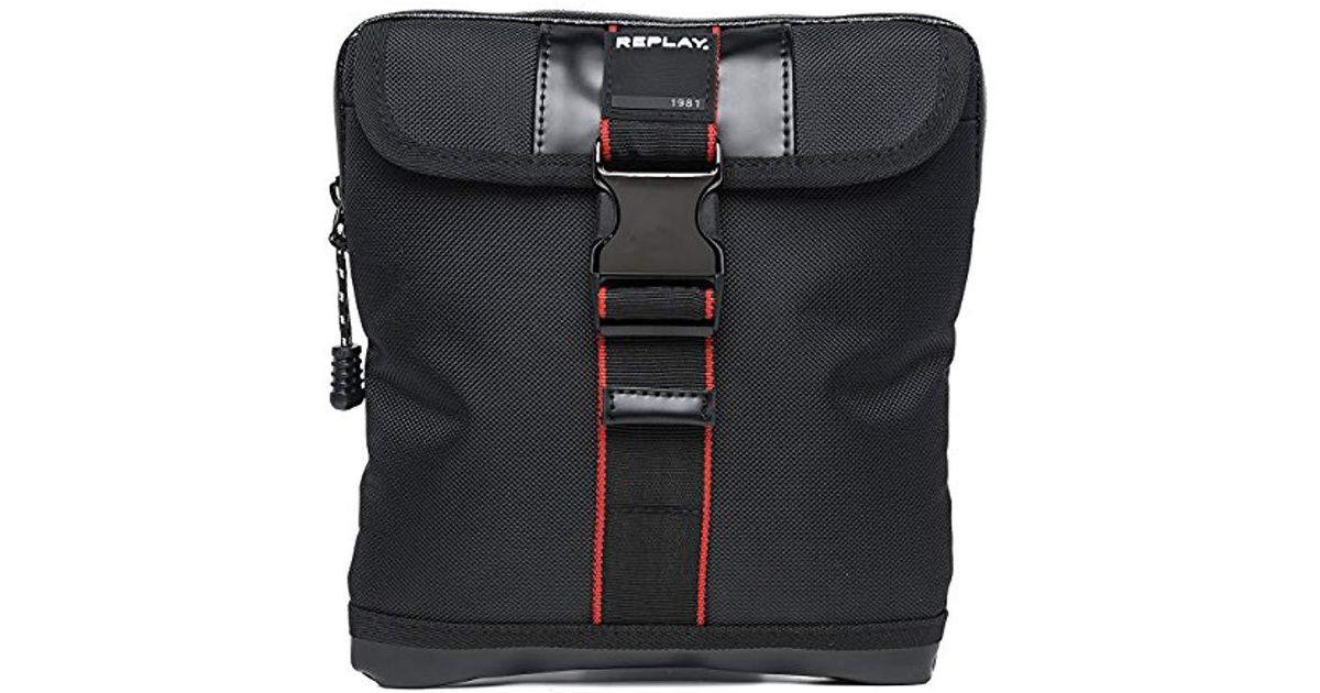 Replay Nylon Canvas Cross Body Bag in Black for Men - Lyst 1098388a847d3