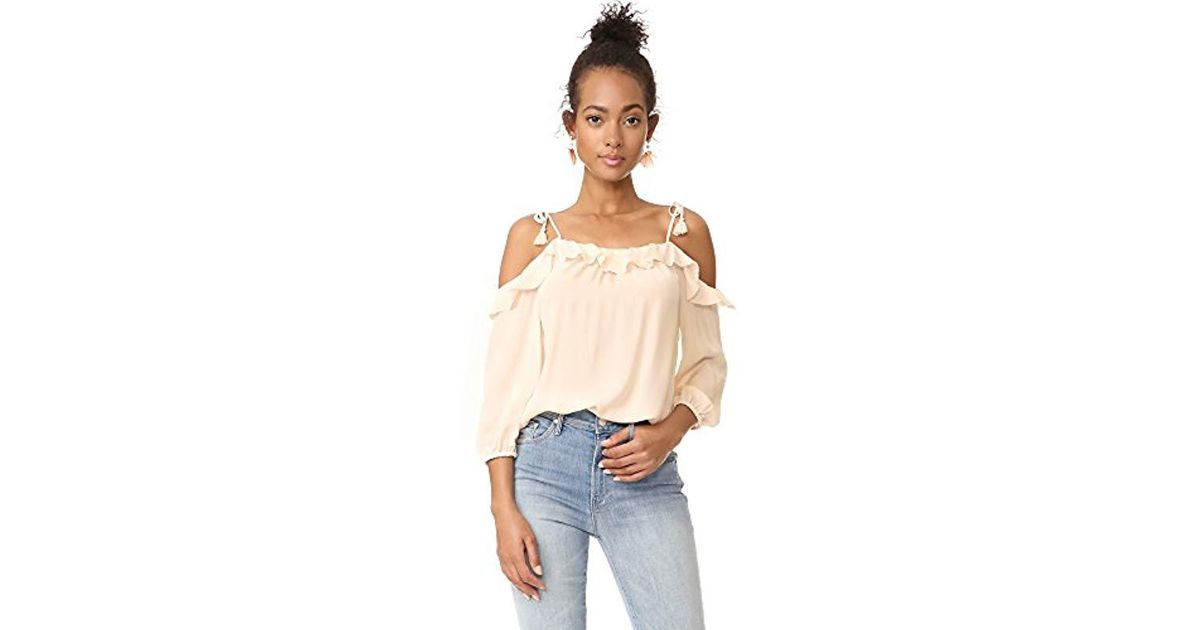 812fa4363a0724 Lyst - Joie Eukene Top in Natural