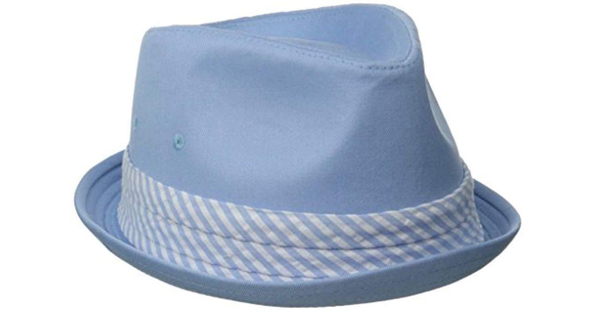 Lyst - Original Penguin Ike Twill Fedora W Band in Blue for Men - Save 26.0% 73ecbcd00fd