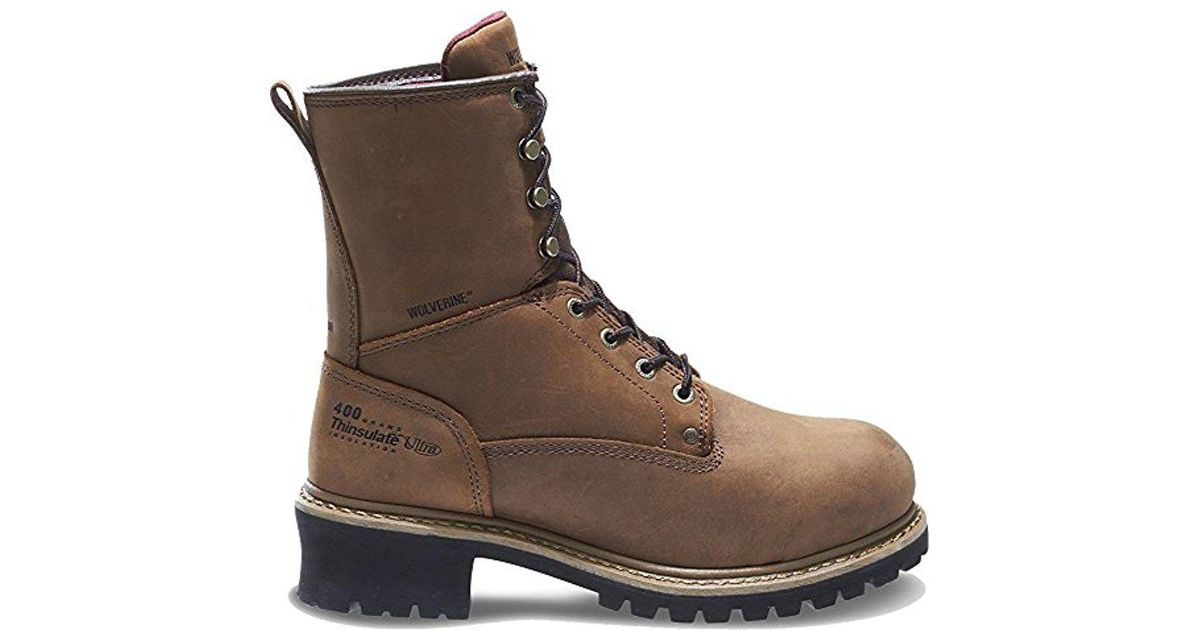 a2a9d303a8c62 Wolverine Brown Snyder Wpf Logger Steel Toe Eh Work Boot for men
