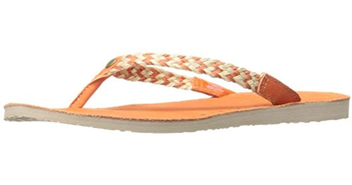 e6ab8bb775c Ugg - Orange Navie Ii Flip Flop - Lyst