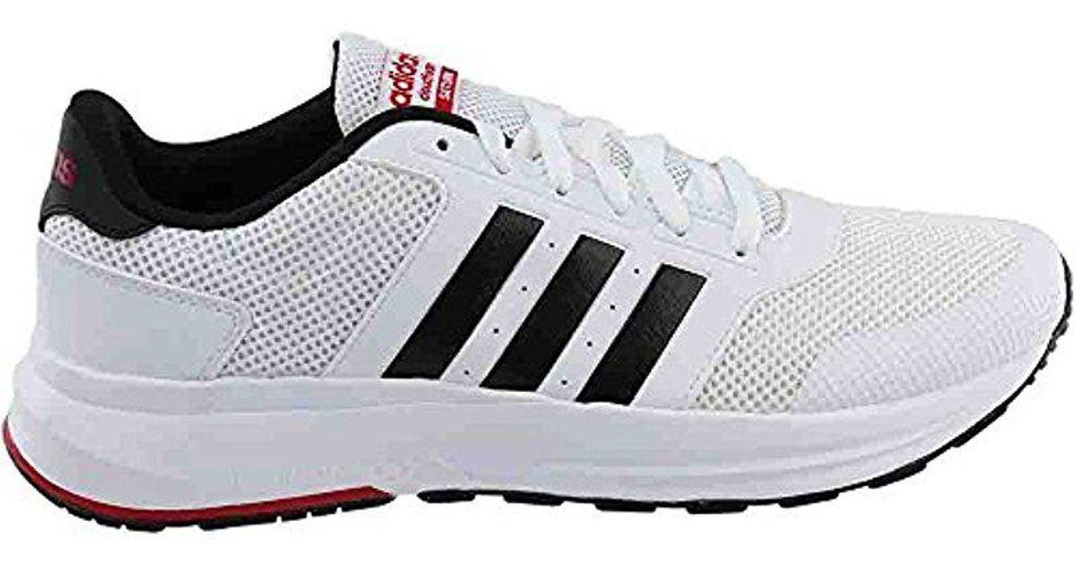 lyst adidas neo cloudfoam saturno scarpa da corsa in nero per gli uomini.