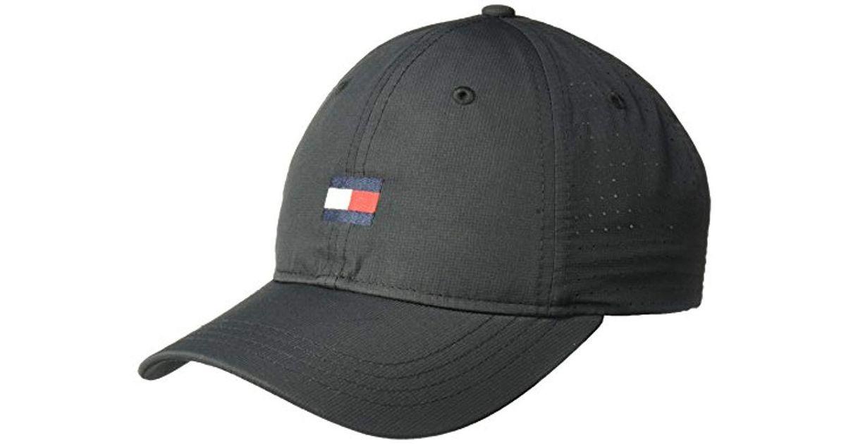 801b4189599 Lyst - Tommy Hilfiger Dad Hat Flag Golf Cap in Black for Men