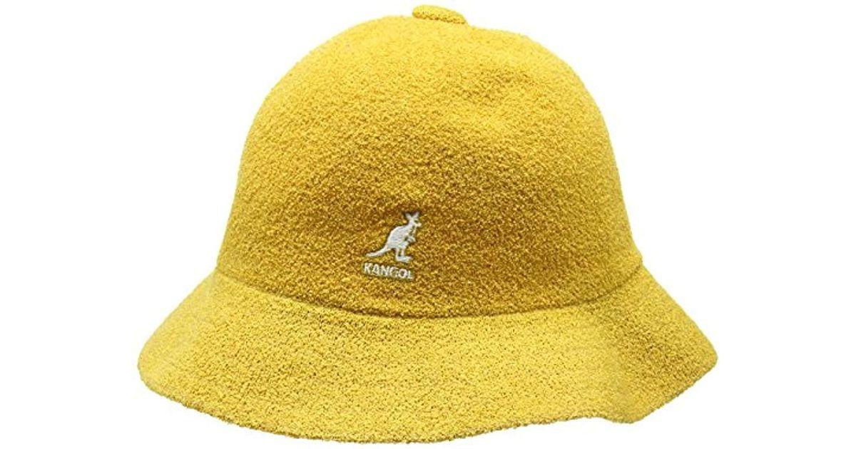 0f5e4de7c Kangol Yellow Bermuda Casual Bucket Hat Classic Style for men
