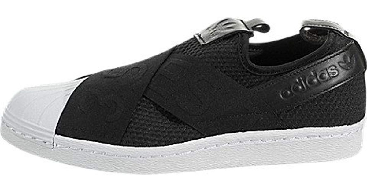 outlet store 47a76 d7558 Adidas Black Originals Superstar Slip-on Shoes By9137