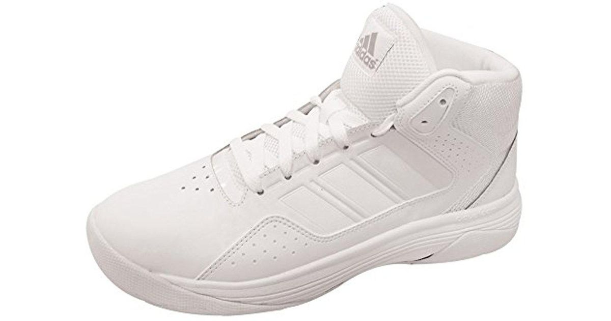Adidas White Performance Cloudfoam Ilation Mid Basketball Shoe for men