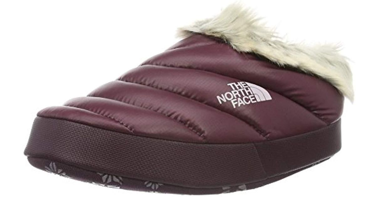 41d71fb7f The North Face Multicolor 's W Nse Tent Mule Faux Fur Ii Clogs, Shiny Deep  Garnet Red, Small