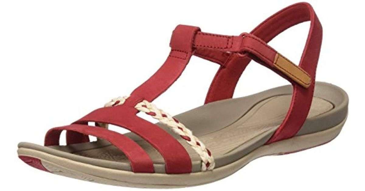 b50023a0e01 Clarks Tealite Grace Sandals in Red - Lyst