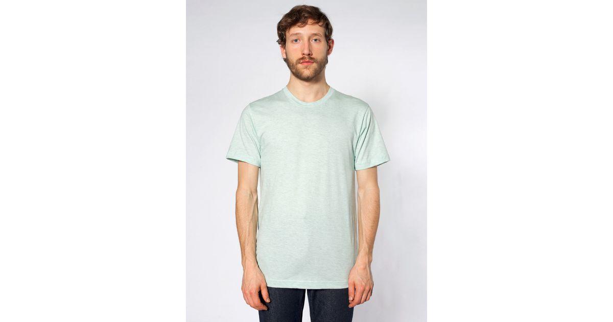 American apparel fine jersey crewneck t shirt in blue for for American apparel fine jersey crewneck t shirt