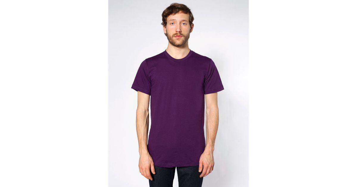 American apparel fine jersey crewneck t shirt in purple for American apparel fine jersey crewneck t shirt