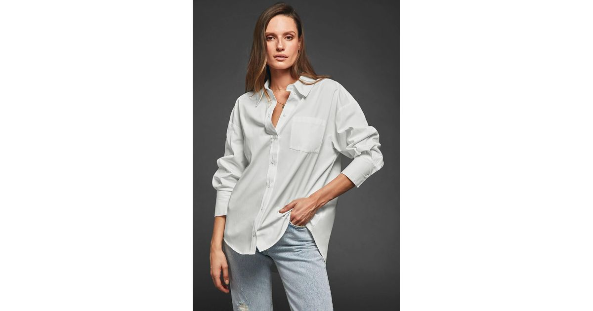Lyst - Anine Bing Mika Shirt in White e35f62a7c