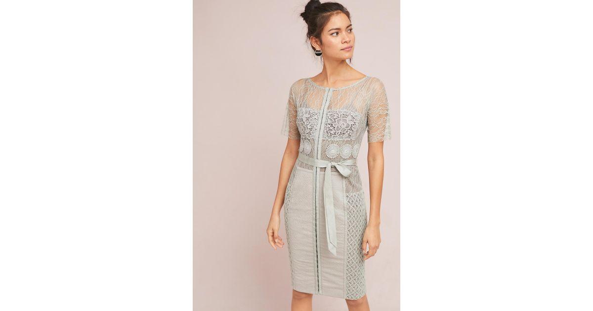 9d83ada6d8d2 Byron Lars Beauty Mark Carissima Sheath Dress in Gray - Lyst