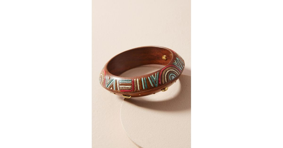 Gas Bijoux Painted Wooden Cuff 0dh4O6R