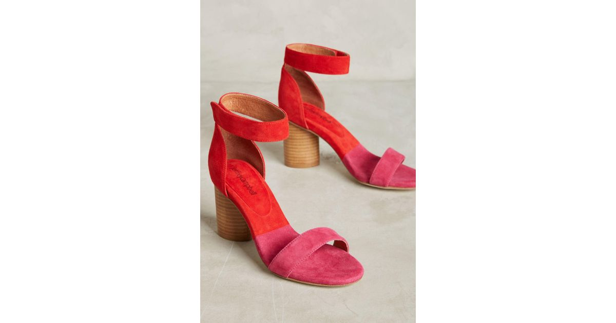 a814109966b7 Jeffrey Campbell Purdy Block Heels in Pink - Lyst