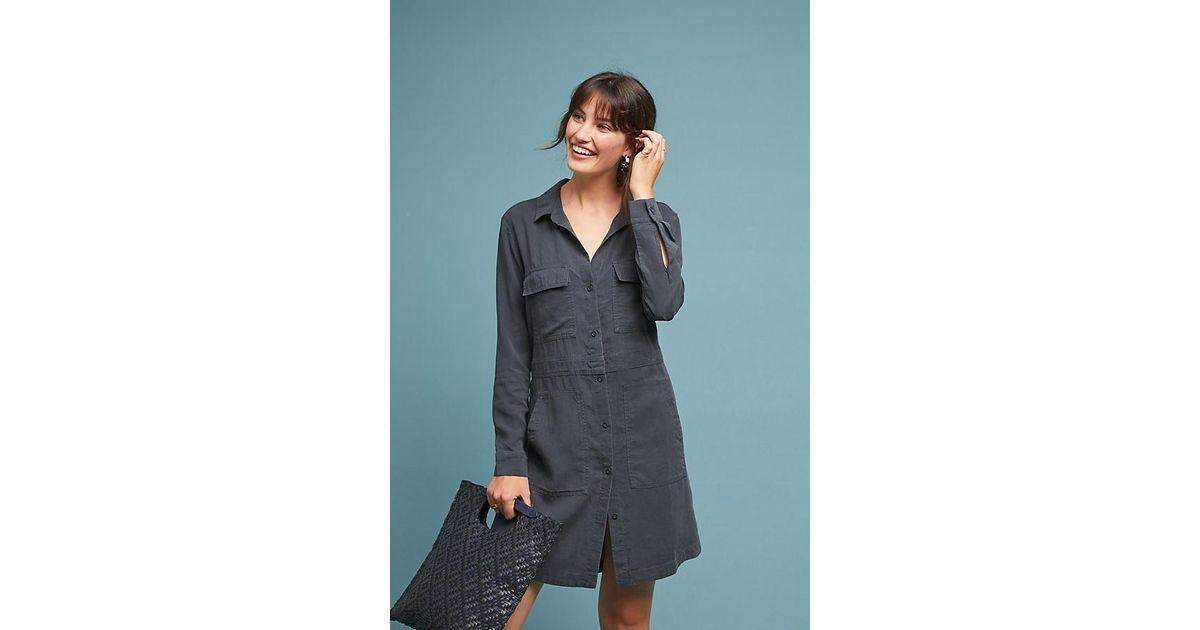7f161bc6a3 Cloth & Stone Utility Shirtdress in Black - Lyst