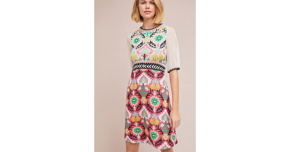 55321507723a Anthropologie Winona Knit Dress in Pink - Lyst