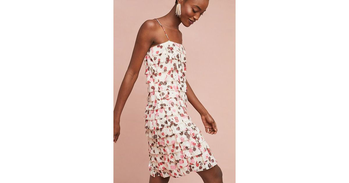 a574f5d292e6 Anthropologie Tiered Polka Dot Dress in Pink - Lyst