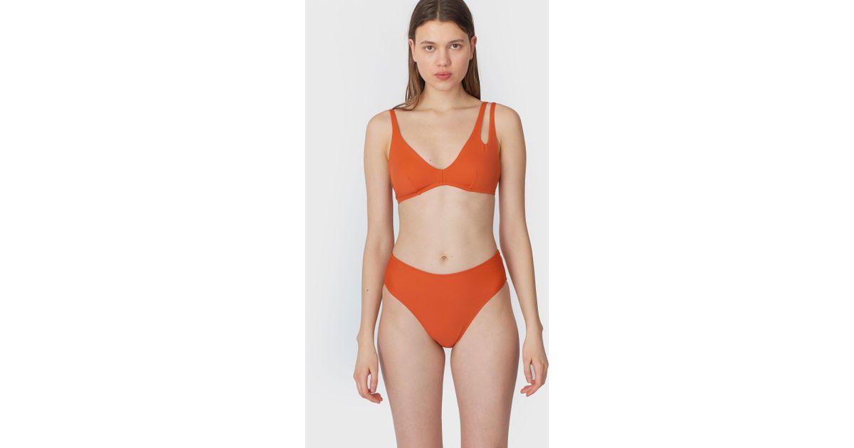 fea66a86ad784 Araks Elias Bikini Top Terra D-cup in Orange - Lyst