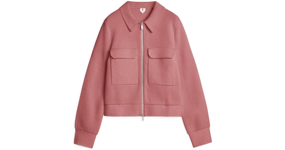 Arket Wool Merino Box Jacket In Blush Pink Pink Lyst