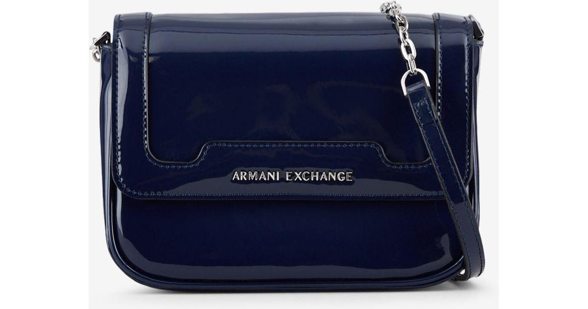 0b6419c3d4f Lyst - Armani Exchange Bag With Chain Strap in Blue