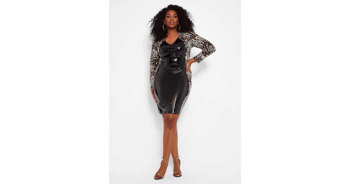 047547c9c8543 Ashley Stewart Plus Size Animal Print Dress in Black - Lyst